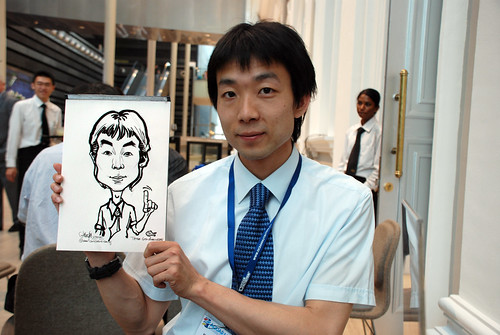 Caricature live sketching for Tetra 60th Anniversary - 3