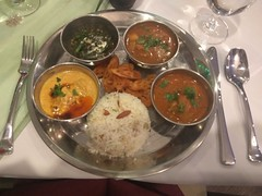 Had an excellent Kashmiri lunch prepared and served by the students at the Vatel Restaurant at Ansal University. Traditional food was served starting with Kahwa and Kashir Chouth (bread) followed by Kashmiri Rista (mince meat dumpling), Nadroo, Gogji Rajm (Anil.Yadav1) Tags: kashmiri picoftheday india incredibleindia climberexplorer ansaluniversity food kahwa nadroo photooftheday kashirchouth