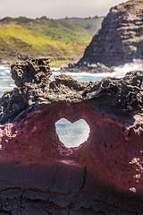 Nature Loves you! Happy Valentines day! (PIERRE LECLERC PHOTO) Tags: valentinesday valentine love heart nature lavarock red maui hawaii pierreleclercphotography hawaiian travel nakalele blowhole landscape