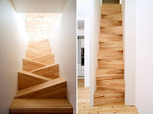 Alternating tread staircase by Arkitectkontor