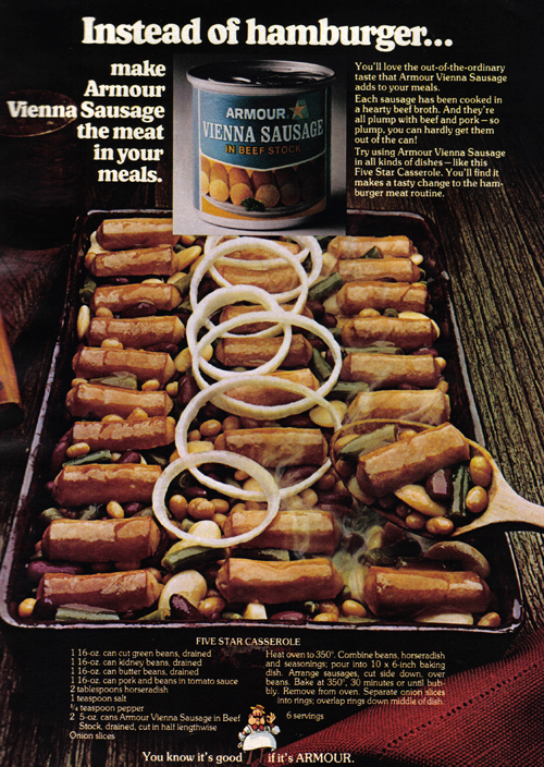 Vintage Ad #844: Instead of Hamburgers...