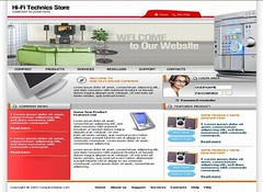Free Technology Gadgets Store Web2.0 Template