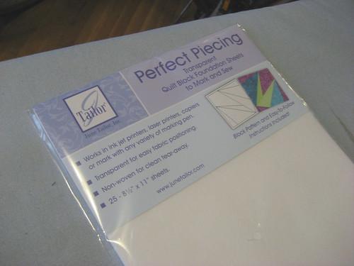 Paper piecing paper