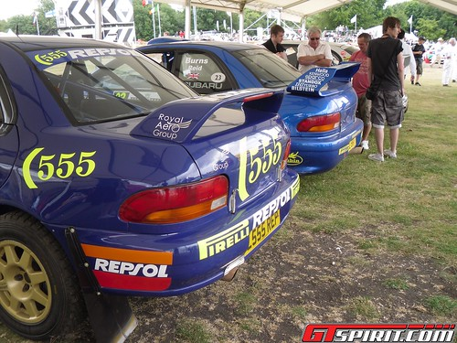 Carlos Sainz's 1995 Subaru Impreza WRC & Richard Burn's 1999 Subaru Impreza WRC