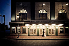 J & L (scifitographer) Tags: wedding june night america canon de groom bride hall spring twilight theater ceremony marriage landmark