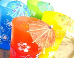 summertime umbrella juices (midnightinfinite) Tags: blue orange green colors yellow juices umbrellas beverages abigfave theyrejustjuicesd