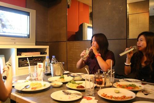 Karaoke and food!