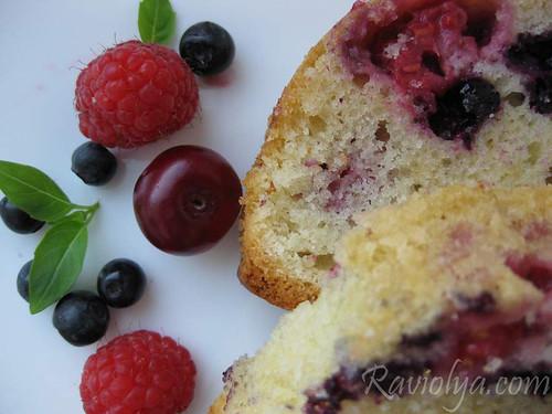 Фото кекс с ягодами