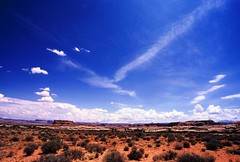 Forever (ξαβλ) Tags: sky usa cloud film landscape utah nationalpark big nikon rocks fuji view horizon wide ishootfilm cliffs velvia massive canyonlands vista fujifilm 100 geology velvia100 f80 needles 100iso needlesdistrict