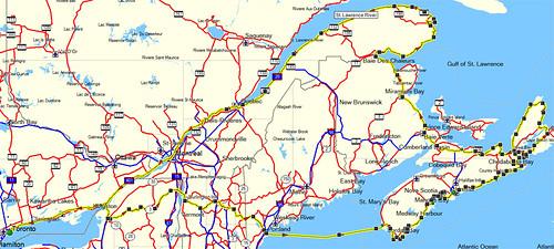East Coast 2009 Route