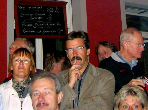Mike Sinyard meets Tom Selleck and some very scary looking people, with a very high moustache count.