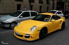 Turbo (Jan L. | JLPhotography.) Tags: auto black car yellow germany nikon stuttgart 911 spot exotic turbo german porsche jl rims dsseldorf rare duesseldorf k 997 carspotting mk1 d40 speedgelb