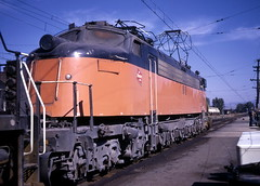 Milwaukee Road #E78 at Deer Lodge, Montana (R R Horne) Tags: montana lodge deer railroads fav10 milwaukeeroad