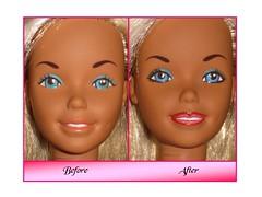 Enhancement 1 (lauraleyla) Tags: doll handmade ooak barbie supersize enhancement repaint reroot