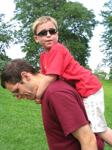 Hitching a ride from Dad