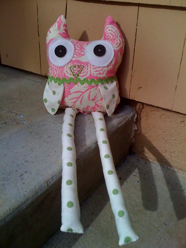 Today's project : Owl softie