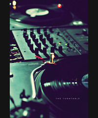 The Turntable (khaniv13) Tags: light set 35mm dark studio nikon neon dj technics turntable fluorescent f18 disc afs rane d40x khaniv13