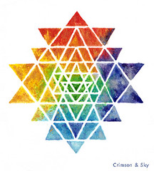 Sacred Geometry / Sri Yantra / Sacred Space (Sarjana Sky) Tags: sacredspace sacredgeometry sriyantra