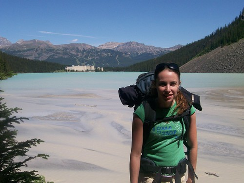 Rachel at Far End of Lake Louise