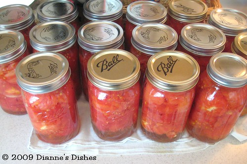 Canning Tomatoes 2009
