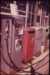 Gas Pumps at Sheepshead Bay Marina 05/1973