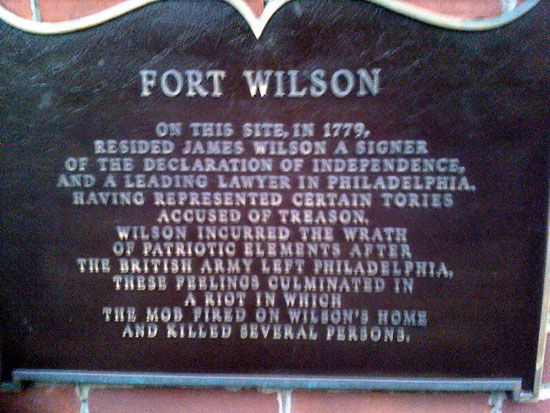 Fort Wilson Sign (Click to enlarge)