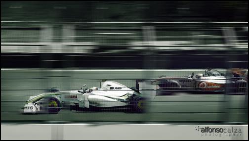 Barrichello & Hamilton