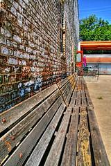 Lines ( D L Ennis) Tags: lines virginia vanishingpoint bricks lynchburg brickwall benches oldbuilding spaces eyecatching geometricdesign benchslats dlennis