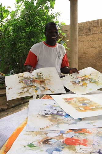 Christophe, the Ouaga artist...