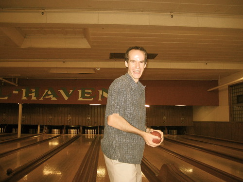 Nat was better at bowling than the rest of us.