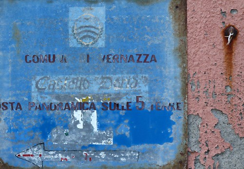 Blue Sign-Vernazza
