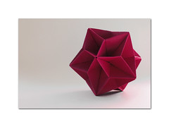 Stellation of Rhombic Triacotahedron (steffi's) Tags: stella paper star origami craft modular diagram folded papel stern papier estrella carta tutorial icosahedron polyhedron anleitung modules basteln origamistar    falten rhombic rhombictriacontahedron rhombicicosahedron faltanleitung   origamistern