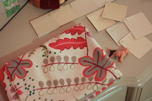 fabric + paint