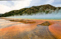 GRAND PRISMATIC SPRING (bydamanti) Tags: wow catchycolors landscapes springs yellowstonenationalpark yellowstone wyoming naturesbest gmt grandprismaticspring theamericanwest midwaygeyserbasin americaamerica royalgroup landscapedreams stunningplanetearth justonerule nikonflickraward thisshouldbeapostcard comefromlandandsea favoritenaturalcolorsandlights favoritelandscape tuigol yellowstonevalleysandviews