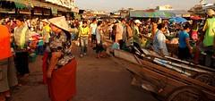 ,,,,,,,,,,,,,,,Morning Market Laos,,,,,,,,,,,,,,, (Jon in Thailand) Tags: color d50 asia market drum streetphotography monks vendor 28 nikkor laos vientiane 1755
