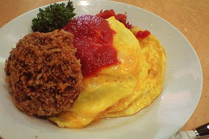 Omelette rice