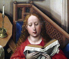 Merode Altarpiece detail of Mary's Face