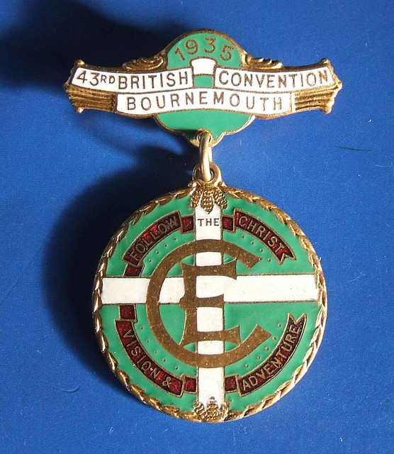 1935 Christian Endeavour 43rd British Convention - delegates badge by RETRO STU