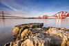 Forth Bridges (Surely Not) Tags: road bridge sea landscape scotland nikon rocks edinburgh angle south wide rail moo forth qm2 queensferry d300 yourphototips thephotoproject em20091017