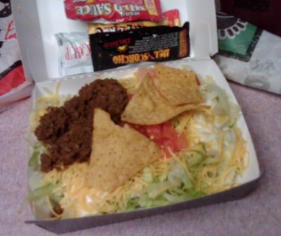 Naugles Taco Salad Cup at Del Taco