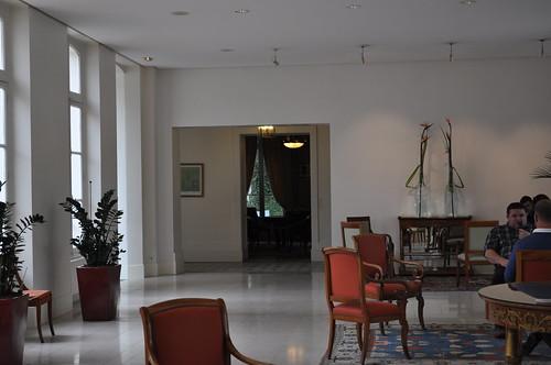 Salón donde comienza la visita