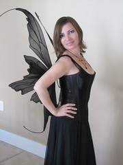Newly Redesigned Danielle Fairy Wings (On Gossamer Wings) Tags: wedding black costume handmade unique recital fairy flowergirl custom faerie fairywings faeriewings photographyprop faerywings adultcostume ongossamerwings wingmaking adultfairywings