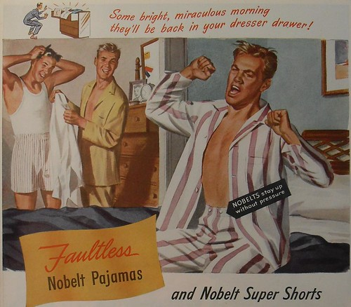 1940s WILSON WEAR No Belt Pyjamas Boxer Shorts Underwear Sleepwear Men's ...