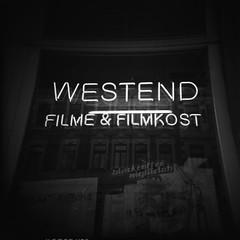 Westend Video Store (fukkle.de • lofi doc photography) Tags: blackandwhite bw 6x6 film window mediumformat square holga leipzig expired expiredfilm rollfilm holga120n orwo mittelformat fukklede lofidoc