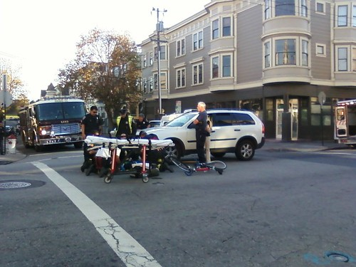Bicycle accident at Haight & Pierce