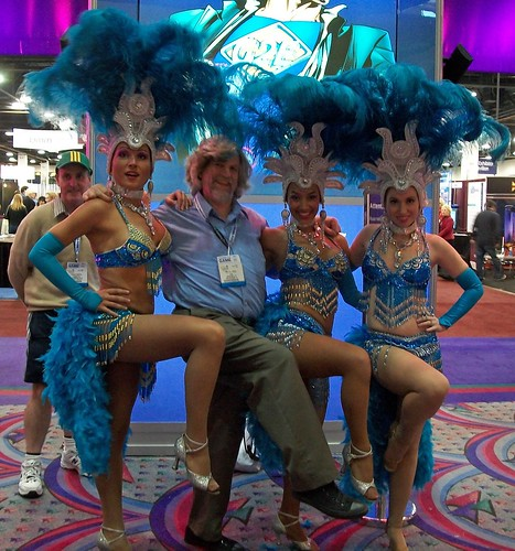 Me, showgirls and a photobomber