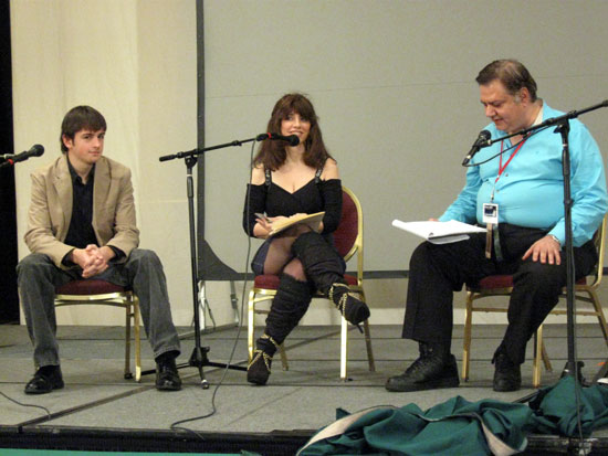 Donald Wolcott and Catherine Asaro are Interviewed (Click to enlarge)