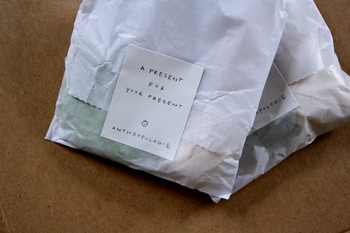 {anthropologie} present for your present
