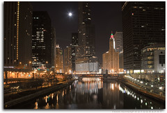 Chicago River (Frank Kehren) Tags: chicago skyline night skyscraper canon river illinois f11 24105 columbusdrive ef24105mmf4lisusm canoneos5dmarkii