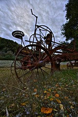 Rusty Grader - San Jose, Ca, USA (Rich Capture) Tags: california old trees storm color field grass leaves clouds canon farm tripod rusty sanjose equipment pasture richard land hdr gitzo grader g1178m ef1635mmf28lii 5dmark2 richardmatyskiewicz matyskiewicz g026